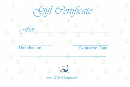 Gift Certificates for the pet lover